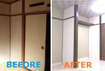 大阪の管理物件、築古アパートのbefore-after